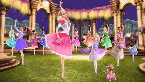 Barbie in The 12 Dancing Princesses - scene 1